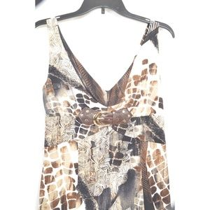 Joseph Ribkoff Dresses - Joseph Ribkoff dress SZ 8 sleeveless white brown t